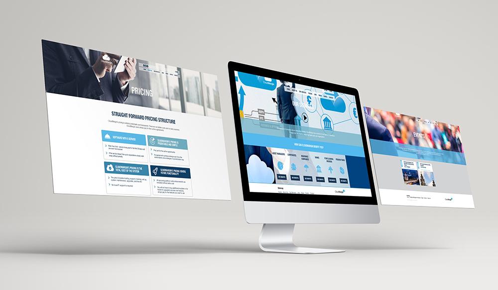 cloudmargin website, brand creation, Form Advertising, logo, CloudMargin