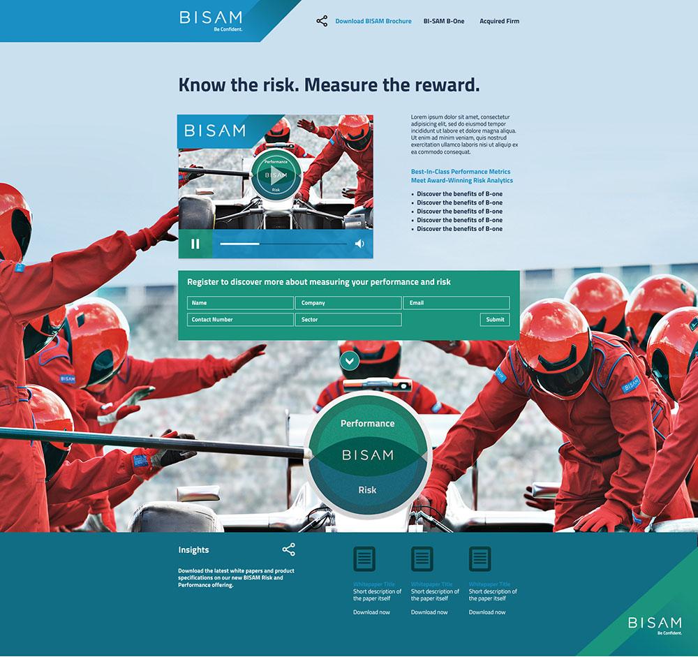 BiSam_landing page, brand campaign, BiSAM, BISAM brand, brand creation, logo, branding, Form Advertising