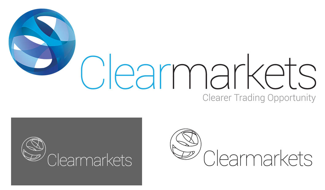 Clear Markets Brand Identity, logo, Clear Markets, new brand identity, Form Advertising, brand creation,