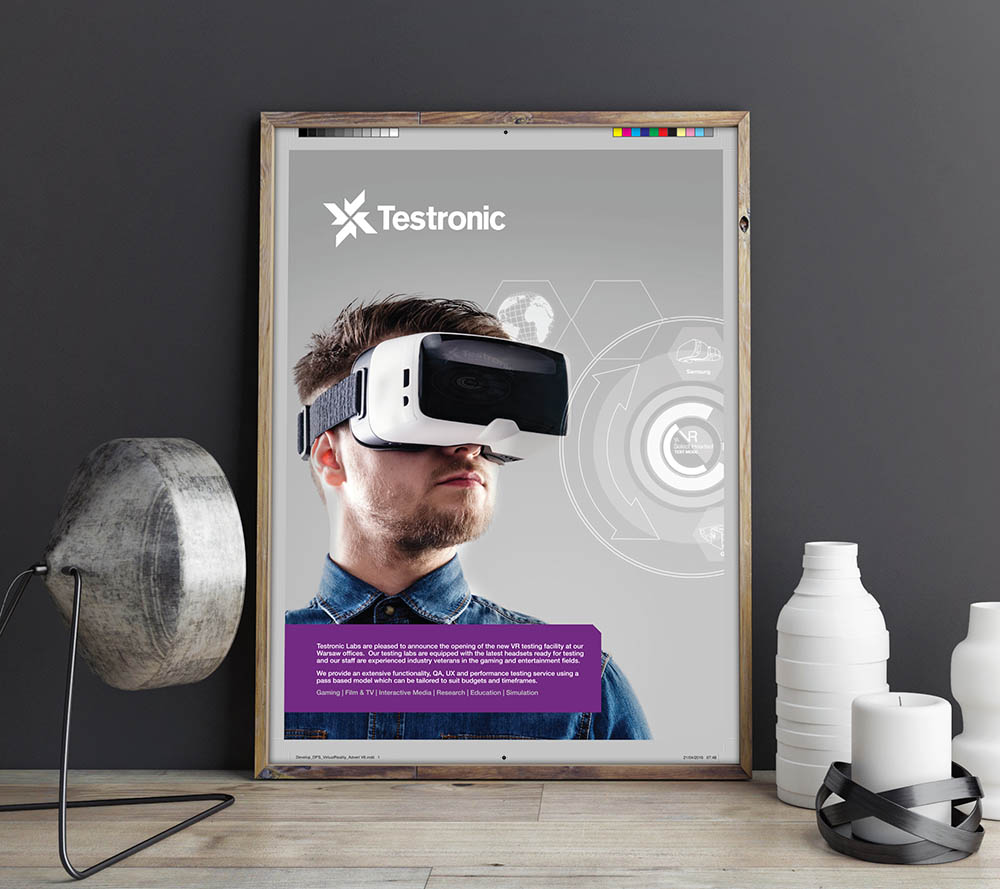 Testronic VR campaign, rebrand, Form Advertising, Testronic, brand creation