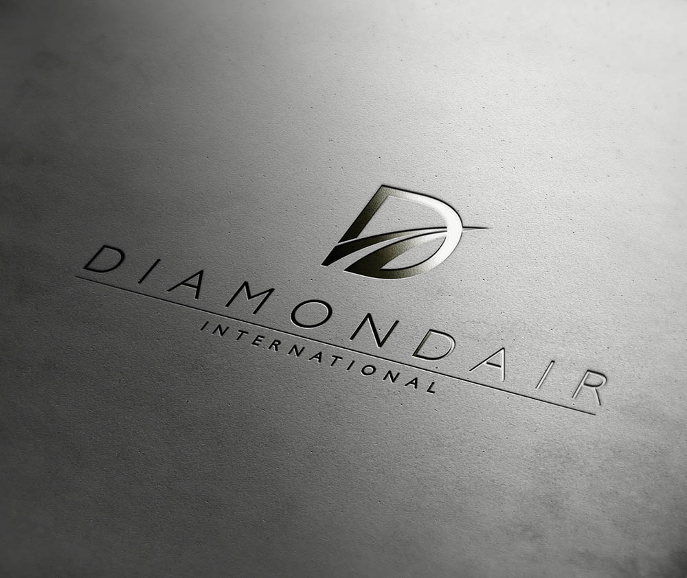 diamond air gold , DiamondAir, logo, new brand design, rebrand, Form Advertising