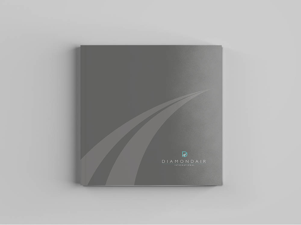 diamond air cover, DiamondAir, logo, new brand design, rebrand, Form Advertising, brochure